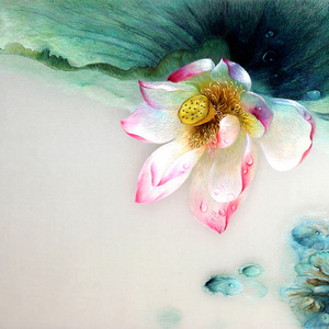 Nổi tiếng cổ thêu nghệ thuật thêu thêu diy kit người mới bắt đầu handmade sơn trang trí với mũi khâu sen 30 * 40 CM