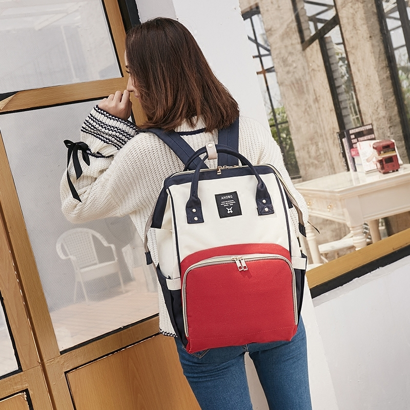 Bao mummy bag out of fashion baby bag multi-functional large-capacity mother backpack backpack travel mummy baby bag