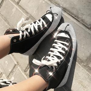 (实拍)水钻短靴女学生运动鞋 型号:zc1
