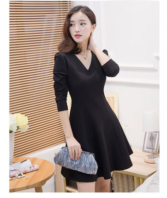 taobao agent New large size male dress female turn mid-length pseudo-girl dress long-sleeved CD cross-dressing clothes women's gangster supplies