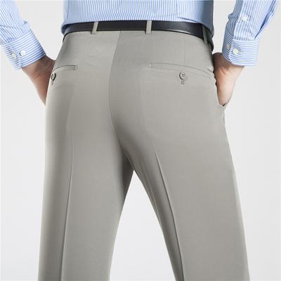 Mùa hè phần mỏng lụa trung niên quần nam kinh doanh lỏng phù hợp với quần thẳng trung niên phù hợp với quần Suit phù hợp