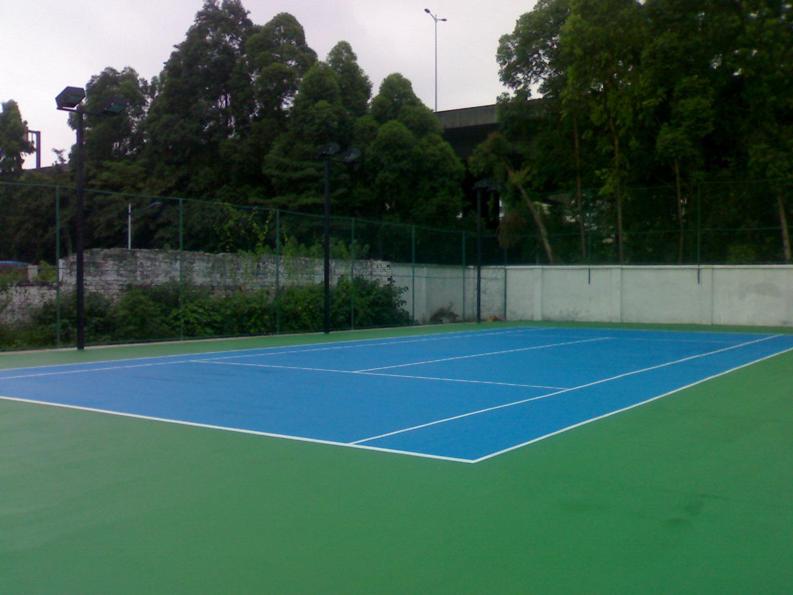 室外丙烯酸篮球场 网球场 羽毛球场地专业运动场施工 材料