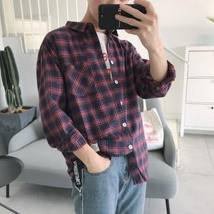 格子衬衫长袖衬衣 港风ins店主原宿休闲日系 CC99 P50