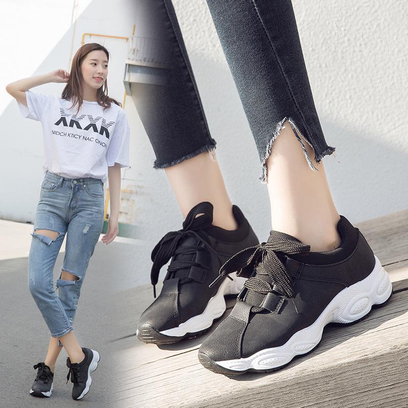 运动鞋女ins超火的鞋子2018新款秋季老爹鞋厚底休闲鞋韩版跑步鞋