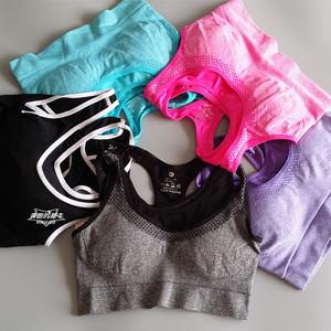Áo ngực thể thao áo ngực của phụ nữ sốc thu yoga chạy thể dục vest đồ lót hai lớp khô nhanh mồ hôi