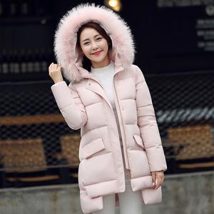 【实拍】2016新款韩版连帽大毛领羽绒棉服女加厚孕妇棉衣外套