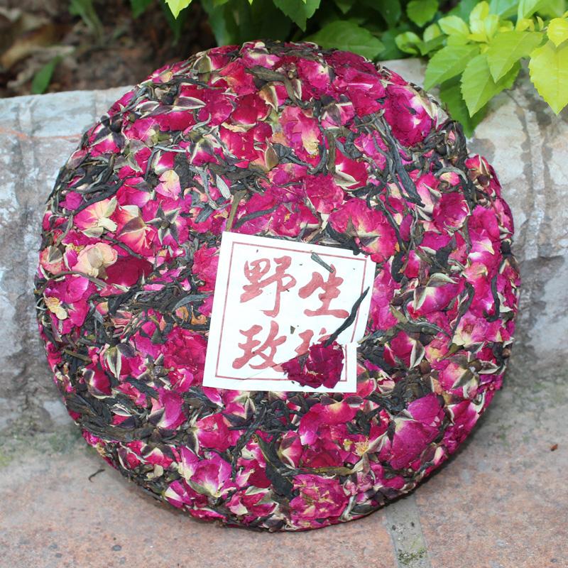 红玫瑰花茶<font color='red'><b>普洱</b></font>生茶200g/饼