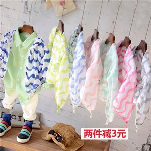 Trẻ em của quần áo chống nắng chàng trai và cô gái mùa hè bé thoáng khí điều hòa không khí áo sơ mi Hàn Quốc boy bãi biển áo khoác mỏng ...