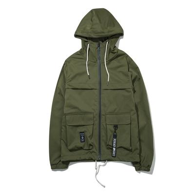 Châu âu và Mỹ người hâm mộ có thể đa túi dụng cụ áo khoác nam mùa xuân Hàn Quốc thời trang đường phố sinh viên áo gió nam áo khoác Áo gió