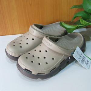 Đầu lớn lỗ giày nam mùa hè cộng với chất béo kích thước lớn dép baotou độ dày non-slip nam giày bãi biển xu hướng giày