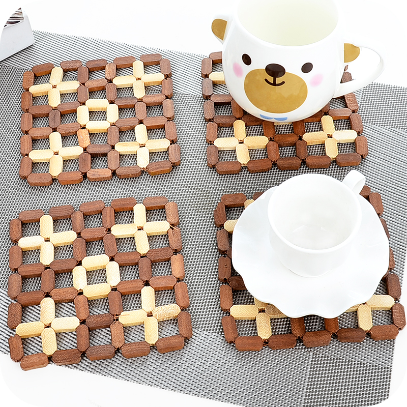 Nhật bản-phong cách tre placemat cách nhiệt pad vuông bộ đồ ăn tấm bảng pad pad chống nóng pad nồi pad bát mat bảng mat
