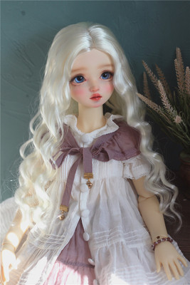 taobao agent 【Kaka Planet】BJD.MDD baby wig with milky silky hair and wavy long hair