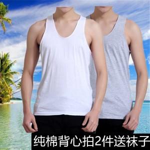 Mùa hè người đàn ông trung niên cotton yếm trong trung và cũ tuổi cotton áo loose mồ hôi cũ vest daddy