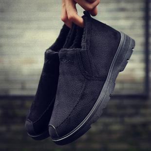 加绒保暖加厚男士运动休闲鞋防滑