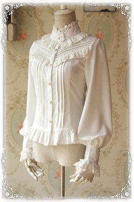 taobao agent [INFANTA. Baby Fan Tower] lolita*fuyu* high-density thick chiffon long-sleeved shirt in stock