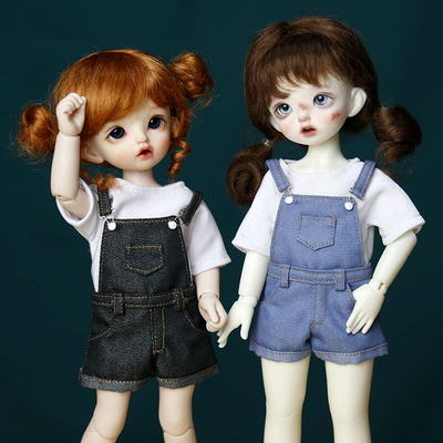 taobao agent Spot 6 points bjd baby clothes, casual overalls, T-shirt, daily doll clothes, free shipping over 58 yuan