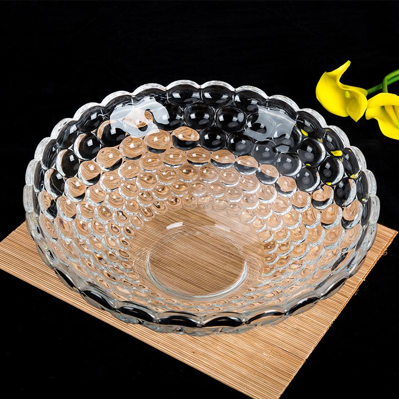无铅水果盘大号干果盘子欧式现代 客厅创意水晶玻璃水果盘糖果盘