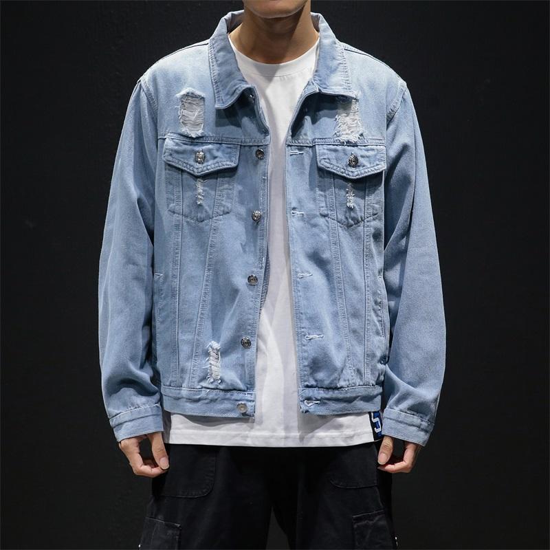 祖玛珑男装夹克男士2020春季新款宽松牛仔夹克潮流青年外套韩版