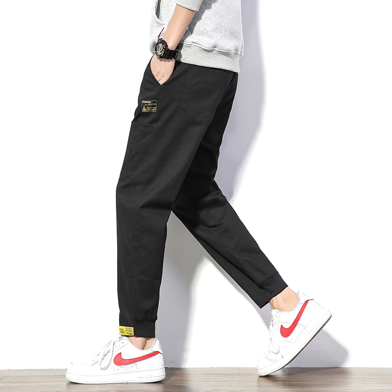 祖玛珑裤子男韩版潮流工装裤宽松运动裤