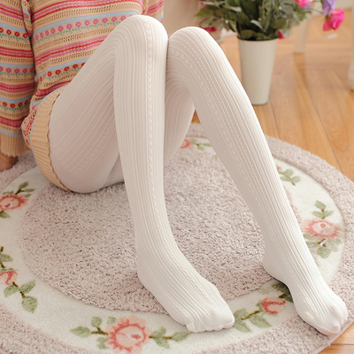taobao agent Japanese jacquard white pantyhose spring and autumn stockings medium-thickness long tube anti-hook silk thin section one-piece bottoming socks women