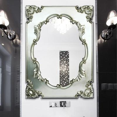 欧式古典复古方形装饰镜浴室镜子卫生间挂镜玄