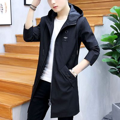 Mặt trời bảo vệ quần áo của nam giới siêu mỏng thoáng khí vài trong phần dài trùm đầu áo gió mùa hè Hàn Quốc phiên bản của mặt trời rỗng quần áo bảo hộ áo khoác thủy triều