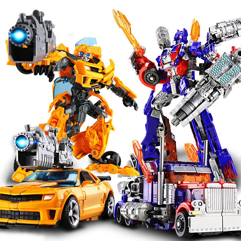 Transformers 5 hợp kim đồ chơi Optimus Prime Hornet xe mô hình robot búp bê trẻ em và nam giới và phụ nữ sinh nhật