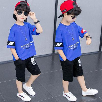童装男童夏装套装2021新款潮夏天短袖中大儿童夏季帅气韩版两件套