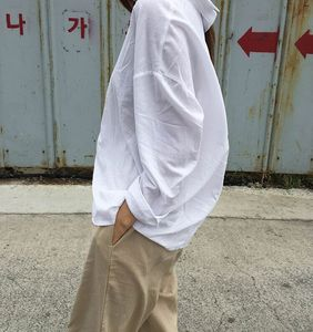 现货~早春推荐! 韩国 chic #1875 简约?#21487;?#38271;袖衬衫女