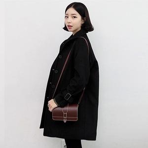 现货 2789# 韩国 chic  鬼马系少女~学院风 毛呢大衣
