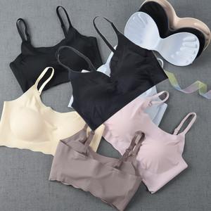Nhật bản mùa hè tam giác siêu mỏng áo ngực nữ một mảnh liền mạch thể thao bọc ngực ngực ống thu thập áo ngực thoáng khí thu thập