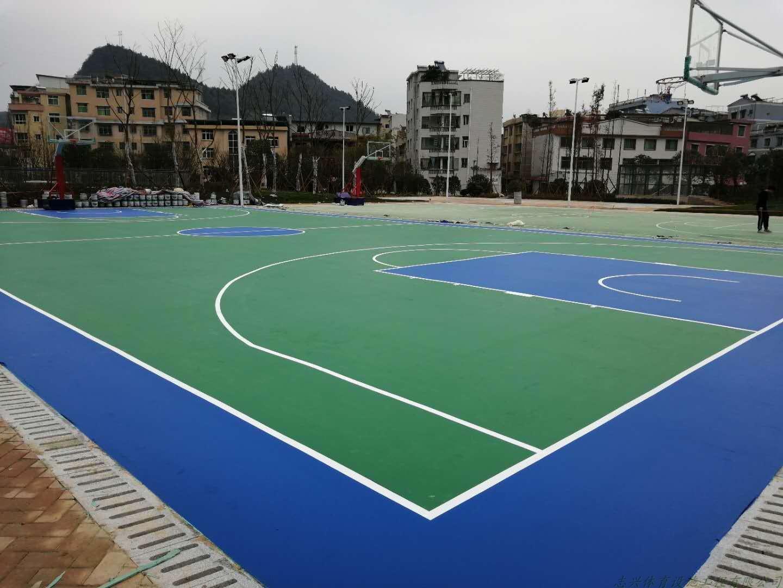 环保网球场专用水性丙烯酸材料施工耐磨防滑抗紫外线篮球场材料