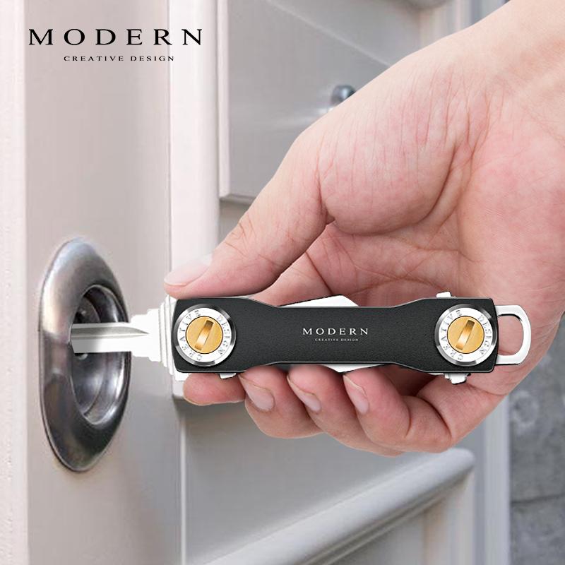 Đức HIỆN ĐẠI lưu trữ quan trọng kim loại đa chức năng túi chìa khóa câm nam eo treo móc chìa khóa món quà sáng tạo