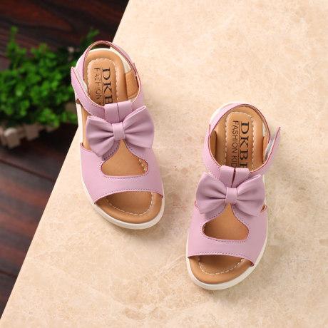   Цена 1107 руб   Девочки сандалии лето 2020 новый натуральная кожа студент ребенок в больших детей чалма пирсинг сандалии корейский принцесса обувной волна