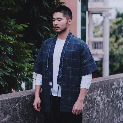 Re-stocking người đàn ông Nhật Bản của 2018 mùa xuân và mùa hè mới gốc Nhật Bản retro kimono bông áo sơ mi áo gió áo gió Áo gió