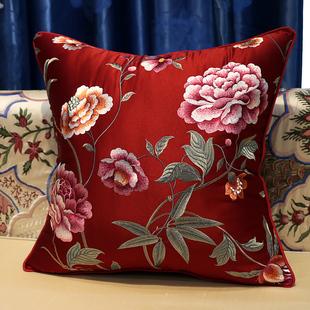 中欧美式古典绣花靠垫抱枕含芯