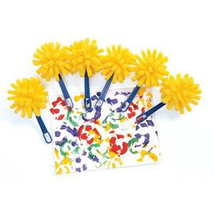 Trẻ em của nghệ thuật thủ công và lớp nghề thủ công nguồn cung cấp bức tranh graffiti xử lý sponge bàn chải nghệ thuật bàn chải bàn chải con dấu 4