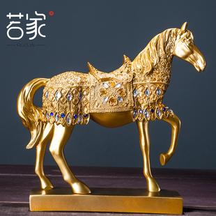 若家 金色战马摆件 家居装饰品