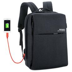 024美耐丽电脑背包男户外旅行休闲双肩包商务充电出差多功能男包