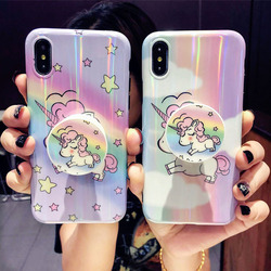 new product fa461 06a36 Girls Phone Cases Covers Cute Cartoon Unicorns Silicone TPU ...