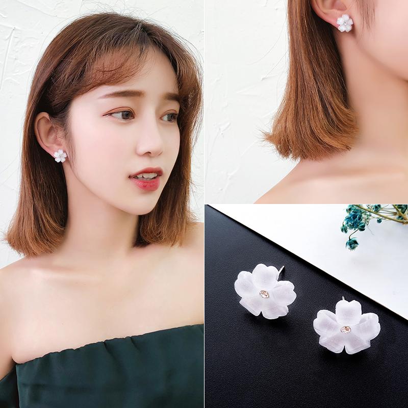 耳钉女 气质韩国个性网红设计感耳环小众潮彼岸花百搭耳坠耳饰品