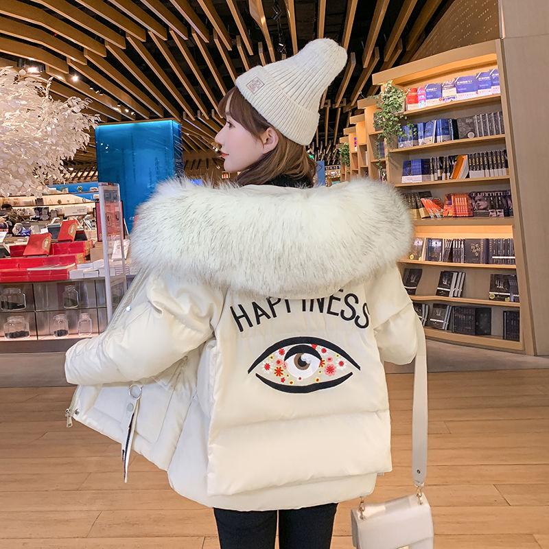 韩版短款少女冬ζ 装羽绒棉服