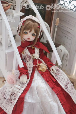 taobao agent [180605] 1/4 4 points BJD MDD giant baby PH wind suit long skirt red