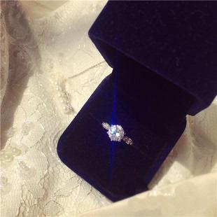 1 карат серебро 925 пробы шесть коготей аксессуары s925 подлинный моделирование бриллиантовое кольцо женские модели япония и южная корея издание просить выйти замуж кольцо