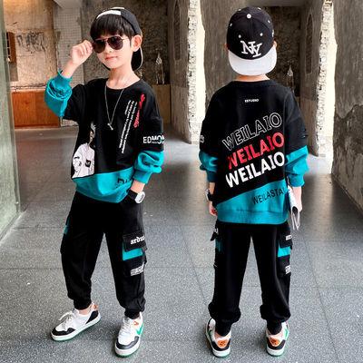 男童秋装套装2021春秋新款儿童帅气卫衣洋气网红潮童运动时髦童装