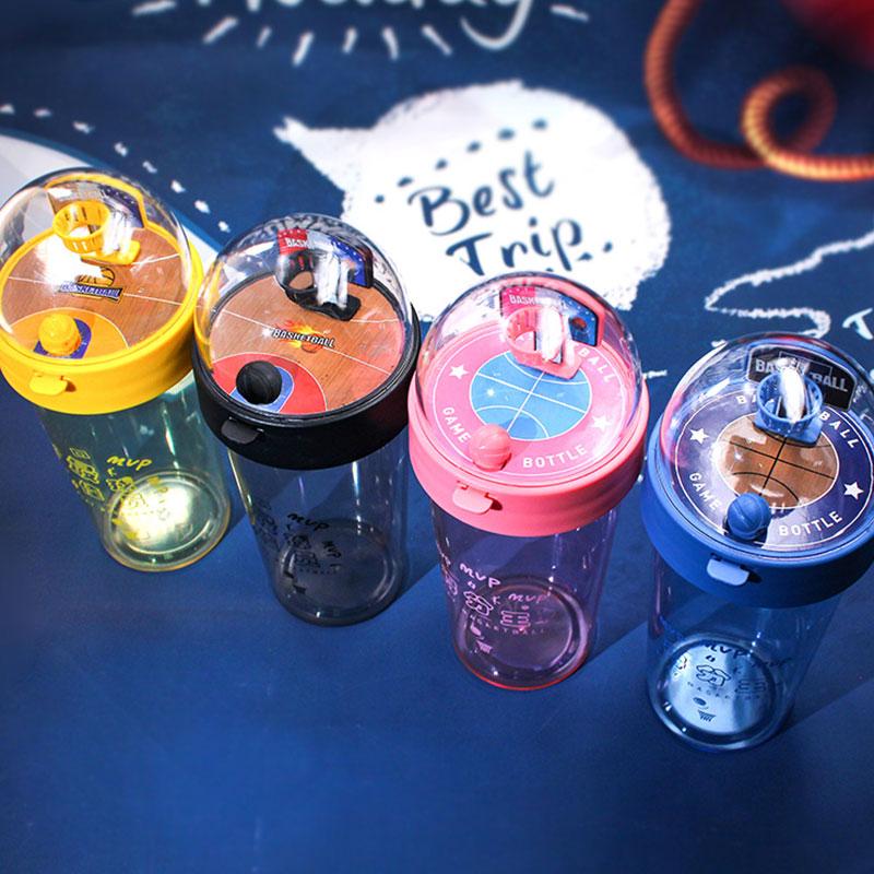 趣味小清新大容量塑料杯 学生创意个性便携水杯