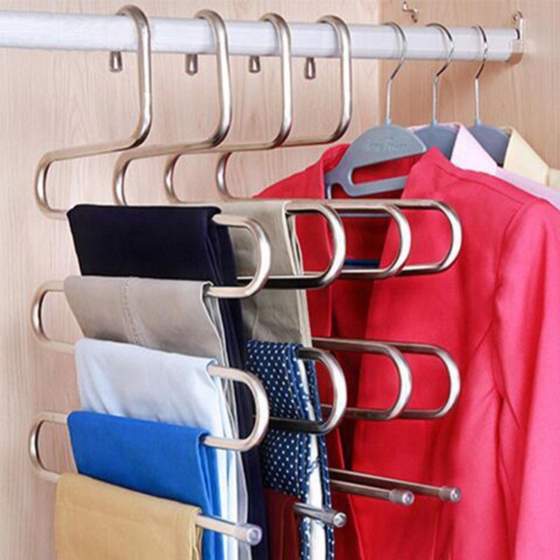家用多功能不锈钢多层裤夹子衣架子