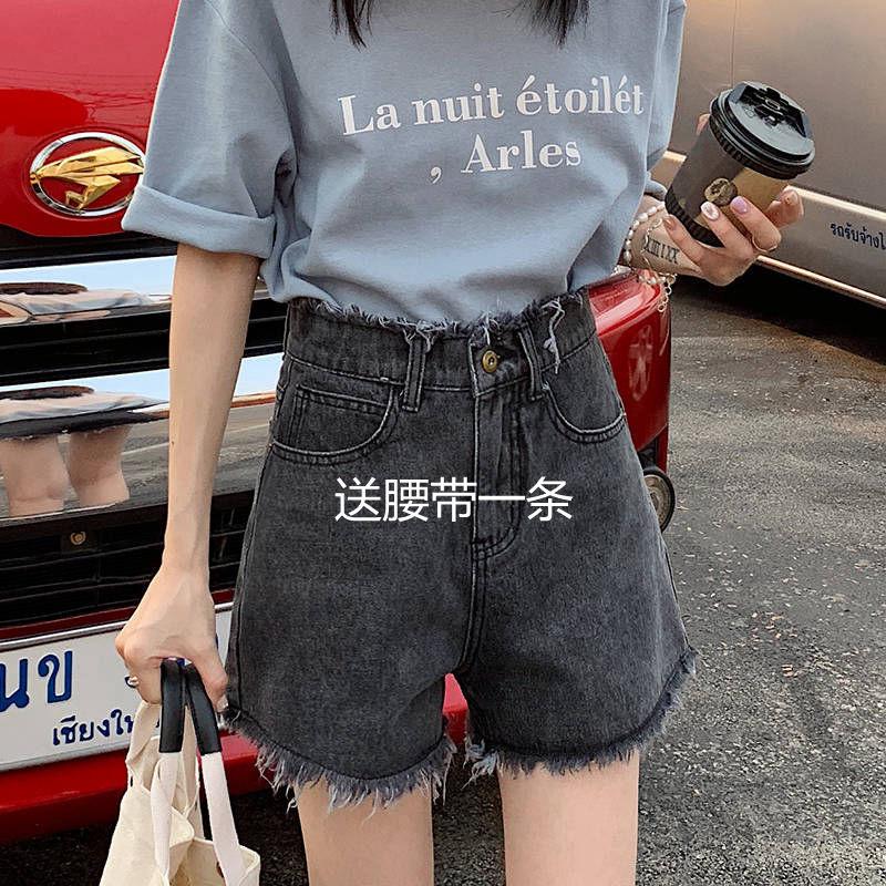 牛仔短裤学生韩版显瘦ins阔腿热裤女装