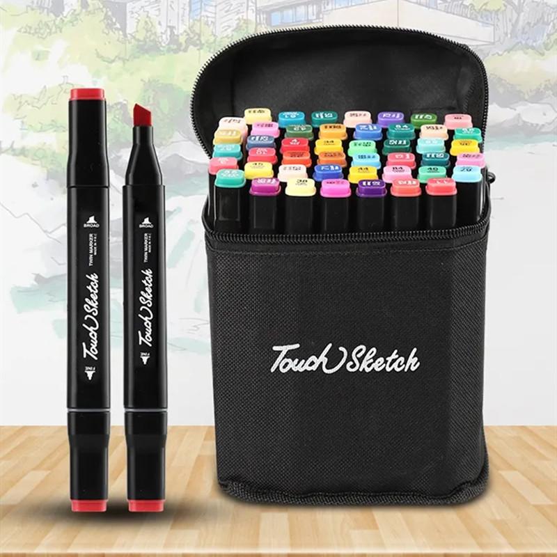 油性双头马克笔手绘设计套装学生彩色笔40/80/168
