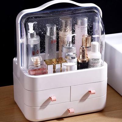 化妆品收纳盒抽屉式防尘置物架桌面整理盒护肤品梳妆台收纳架